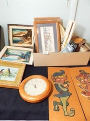 Artwork  Decor   1 Box   Original Art  Clock