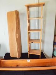 Wood Heart Design Shelves  Quilt Holder  3
