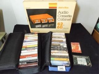 Cassette Tapes  30  Holders Cabinet