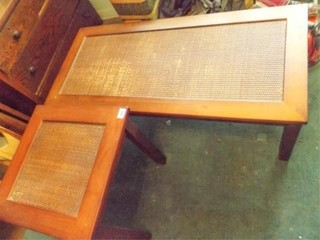 Coffee Table  End Table  Woven Tops