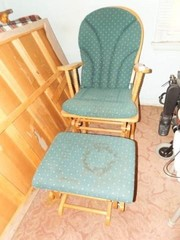 Wood Glider and Footstool