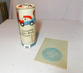 Vintage Baby Bottle Warmer  Prenatal Book