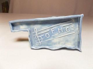 Oklahoma State Ceramic Piece  OFMC