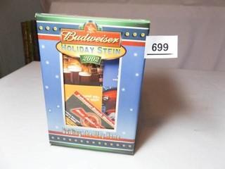 Budweiser 2002 Holiday Stein in Box