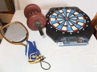 Electronic Dart Board  4 4 lb  weight  Racket