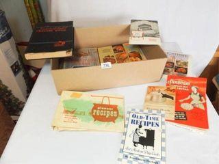 Cookbooks  Pamphlets    10  1 Box