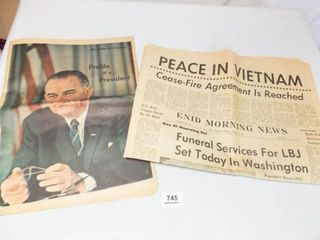 1964  1973 Newspapers   Vietnam  Johnson