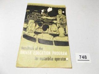 1967 Motorbike Driver Education Booklet