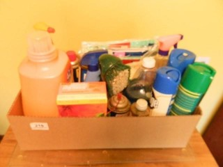 Cleaning Supplies  Partial Contents