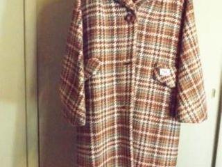 Vintage Plaid Wool  IJ  Coat
