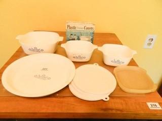 Corning Cornflower Blue Dishes