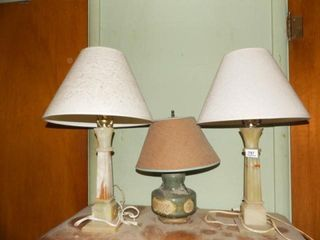 lamps  3    Onyx Type Base on Two