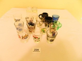 Asian Style Drinking Glasses; (7)