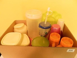 Plastic Storage Containers; Cups