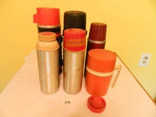 Thermos'; 6 Total; Used Condition