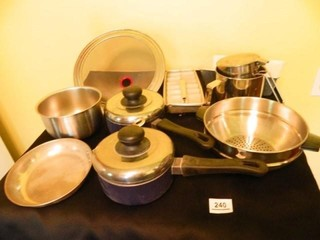 Pans-2; Colander; Stainless Bowl