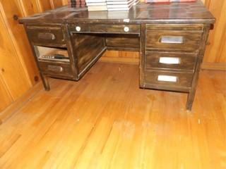 Wood Desk 30  tall x 59  x 33