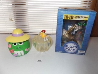M M Candy Bowls  3    one in box