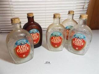 log Cabin Glass Syrup Bottles  Centennial  5