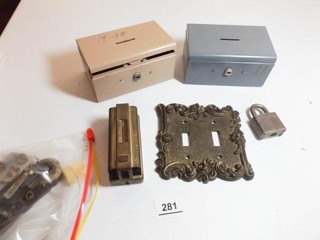 Metal lock Boxes  Plate  Thermostat