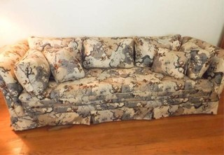 Floral Couch  24  tall x 90  x 34