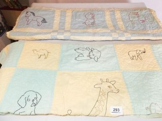 Baby Quilts  Embroidered  Hand Quilted  2