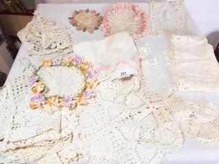 Crocheted Doilies  linens  15