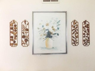 Floral Wall Art   5 Pieces