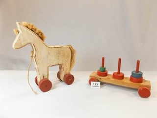 Wooden Toys   Horse  Stacker