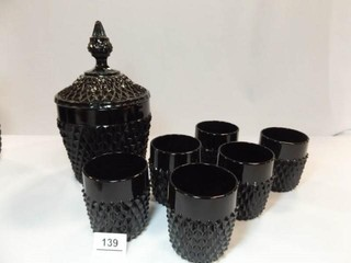 Tiara Diamond Point Ice Bucket  Tumblers  6
