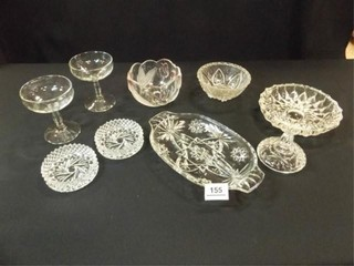 Clear Glass Pieces  Goblets  Ashtray  9