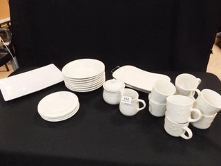 Dishes  Cups  Trays  Ecru Color   20