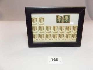 1 and 3 Cent Stamps  Uncirculated in Frame