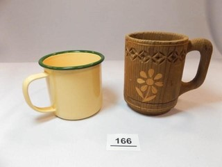 Folk Art  Enamel Coffee Cups  2
