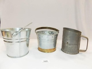Tin Pails  2  Bromwell s Sifter