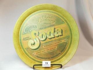 1979 Pentron Round Soda Tin Tray