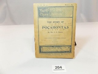 1897 School Reader  Story of Pocahontas
