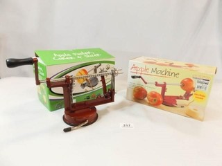 Apple Peelers  2  1 new in box
