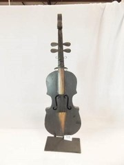 Violin   Stand Decor  Tin  27