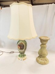 Pillar 12  lamp w  Victorian Painting