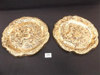 Wall Plaques  Gold leaf  Plaster  2