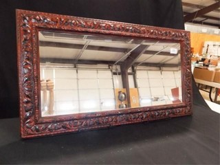 Mirror  Red Black Frame  33  x 18