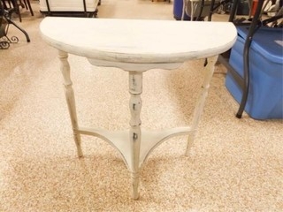 Shabby Half Table 24  x 23  x 12