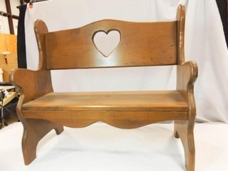 Wood Bench  Child Size 21  x 23  x 11