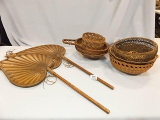 Baskets  7  Wooden Decor Fans  2