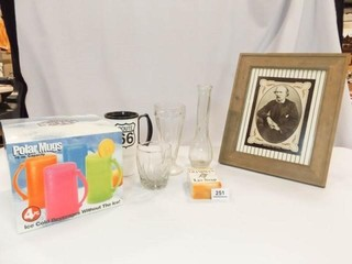 Variety Box  Picture  lye Soap  Glasses  Vase