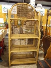 Wicker Shelf Unit  4 Shelves  66  x 31  x 14