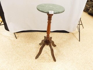 Wood Plant Stand w  Stone Top  29