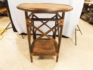 Round Wicker Table  30  tall x 25  round