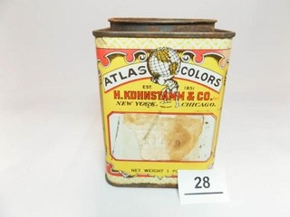 Atlas Food Color Tin
